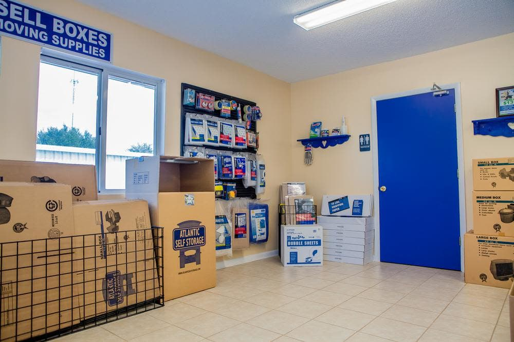 We offer moving supplies at Atlantic Self Storage