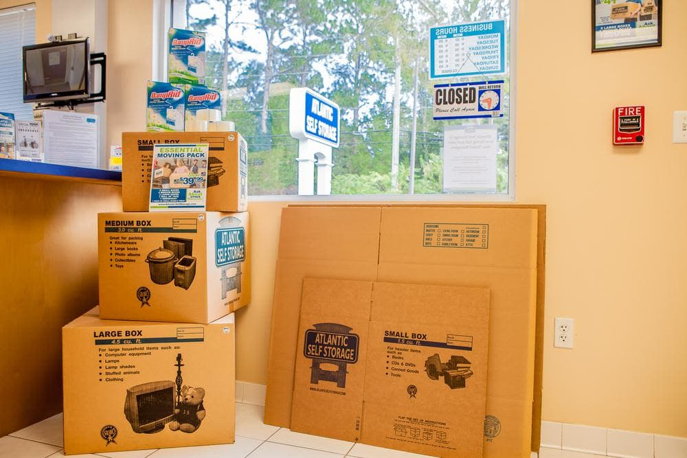 We offer moving boxes at Atlantic Self Storage