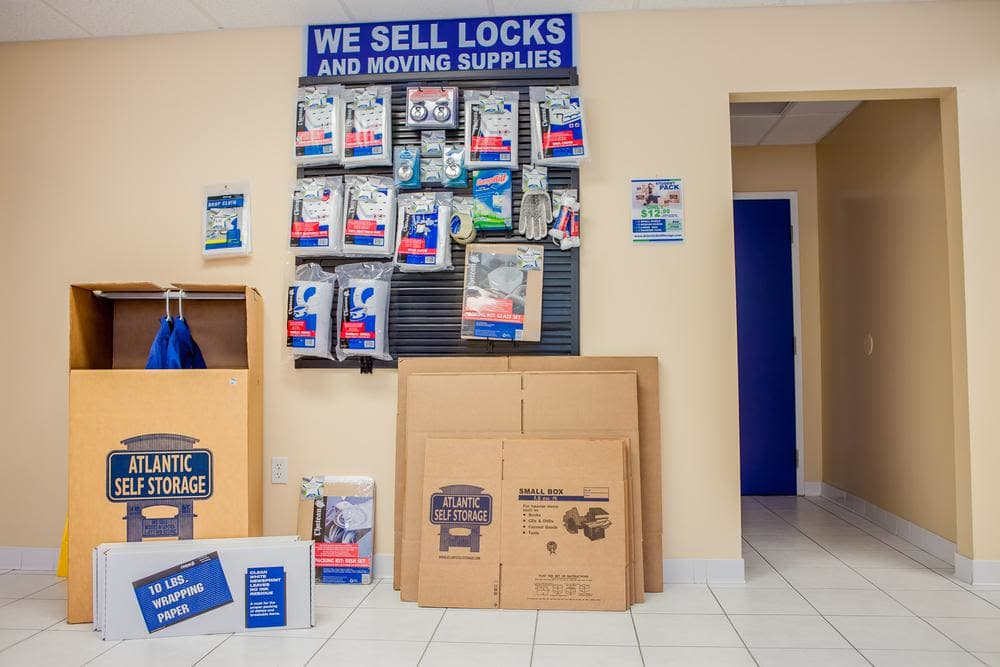 We offer moving supplies at Atlantic Self Storage, in Jacksonville