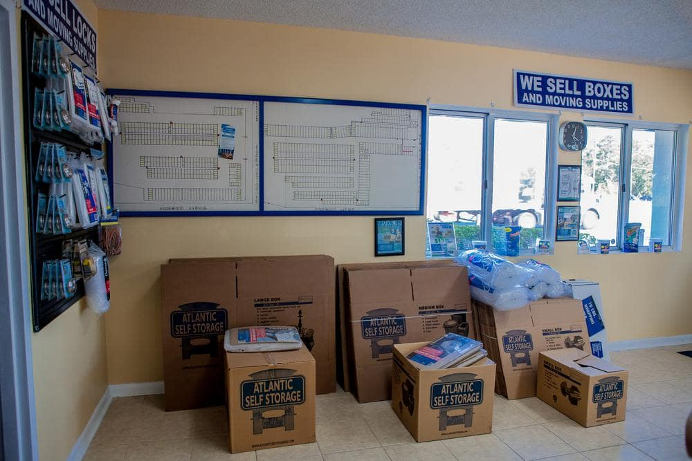 We offer moving supplies and moving boxes at Atlantic Self Storage, in Jacksonville