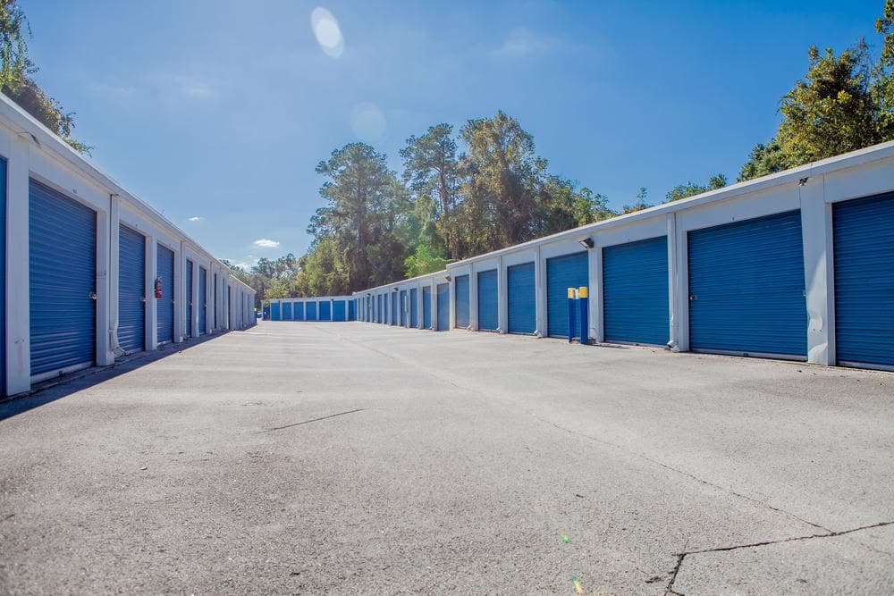 Exterior storage units at Atlantic Self Storage