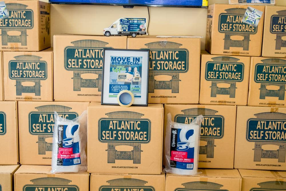 We offer moving boxes at Atlantic Self Storage, in Jacksonville