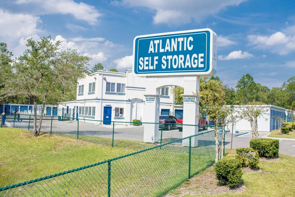 Front entrance at Atlantic Self Storage, in Jacksonville