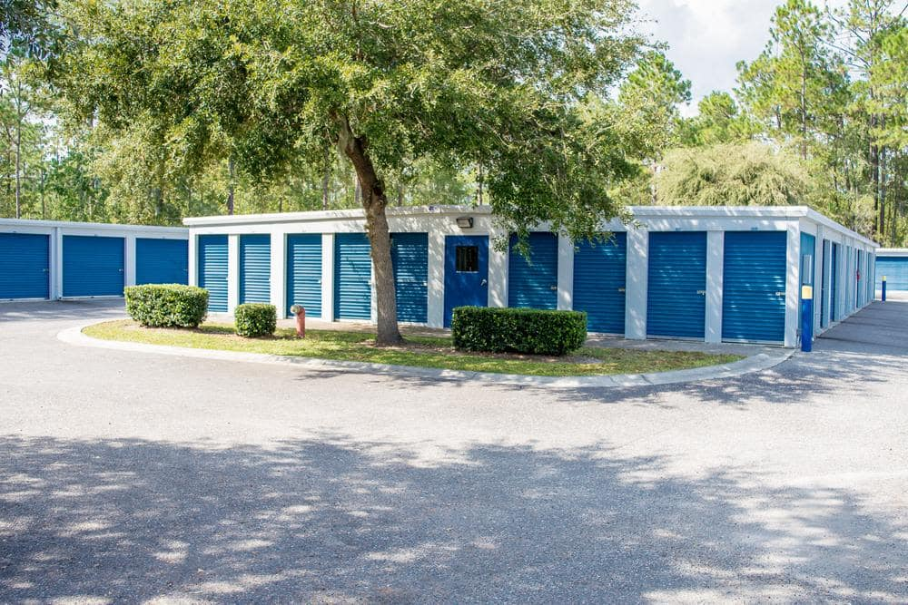 Outside view of storage rooms at Atlantic Self Storage, in Jacksonville