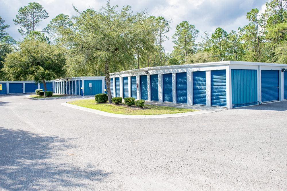 Storage rooms at Atlantic Self Storage, in Jacksonville