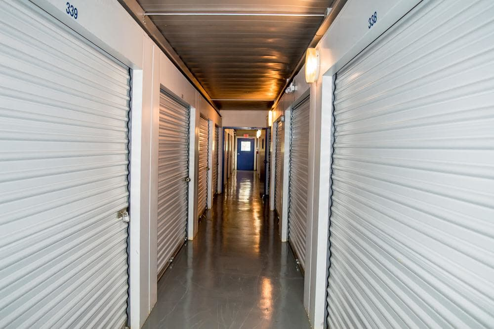 Interior storage building at Atlantic Self Storage, in Jacksonville