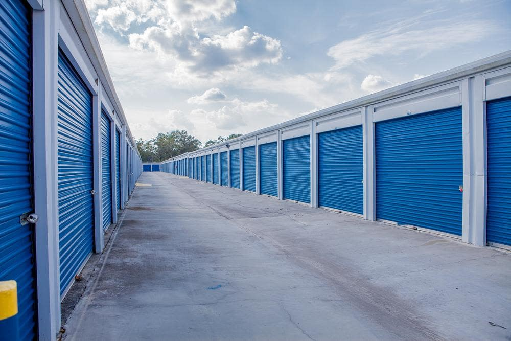 Outside units at Atlantic Self Storage, in Jacksonville