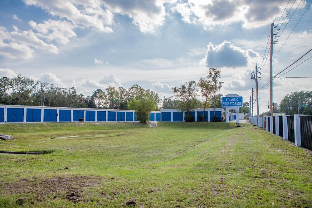 Amplious space outside storage at Atlantic Self Storage, in Jacksonville