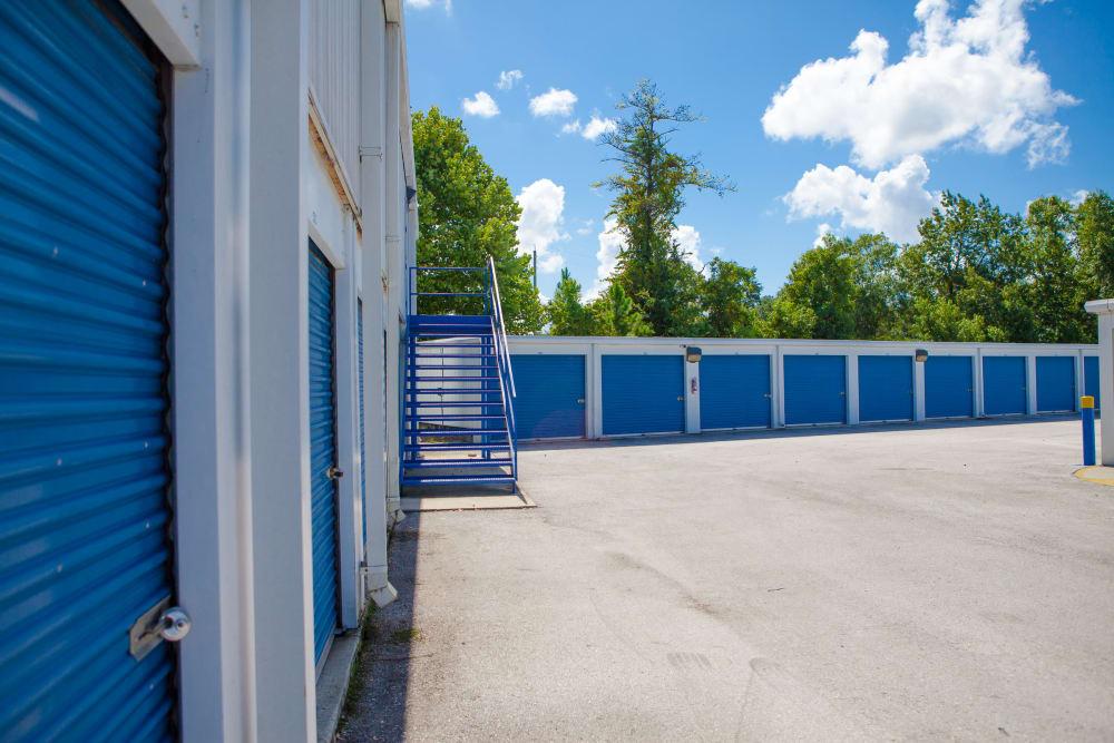 Drive-up units at Atlantic Self Storage