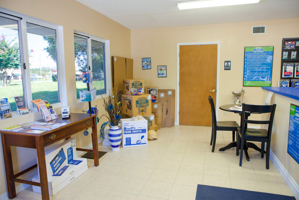 Atlantic Self Storage offers packing supplies
