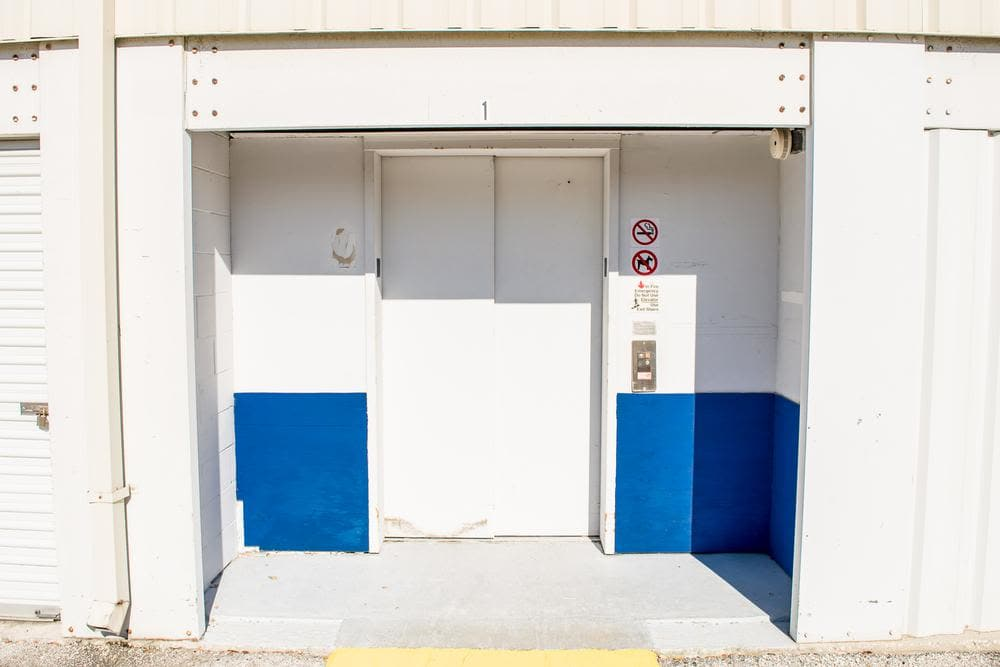 Entrance door at Atlantic Self Storage