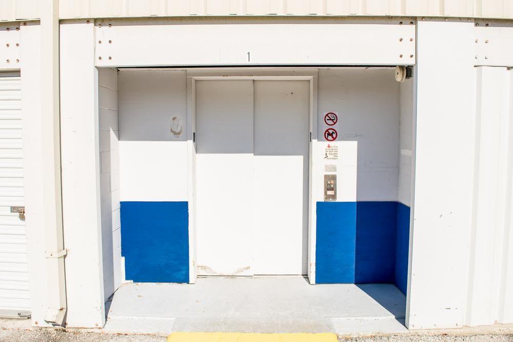 Entrance door at Atlantic Self Storage