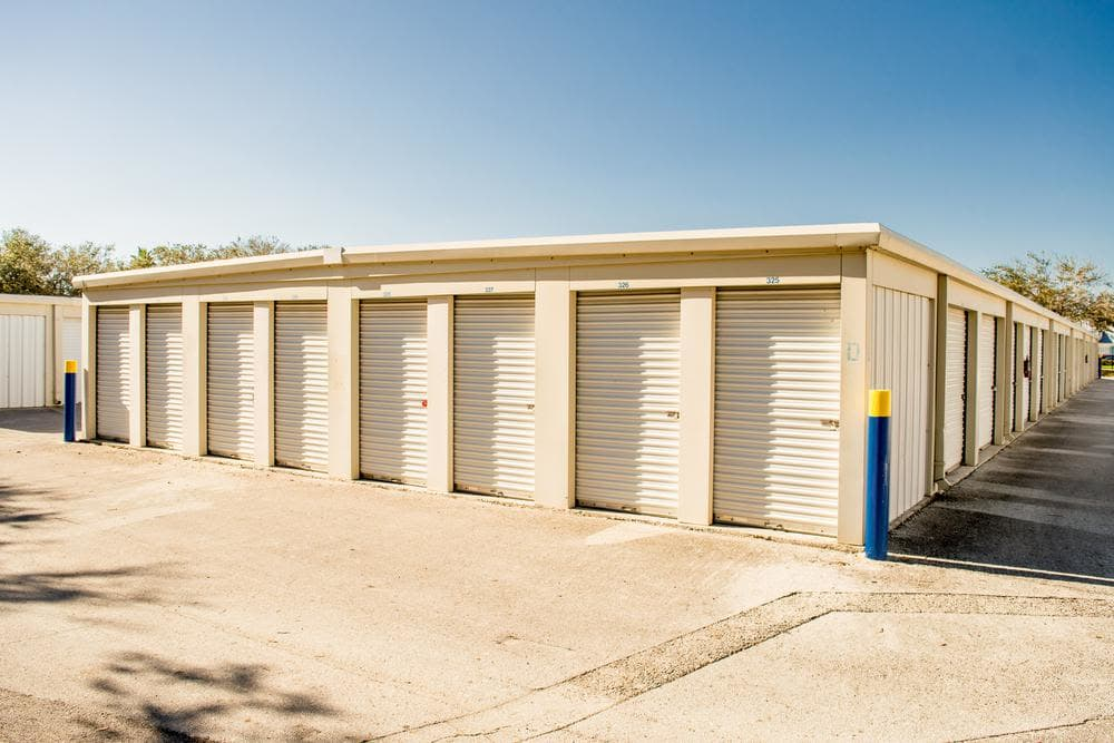 Outside units at Atlantic Self Storage