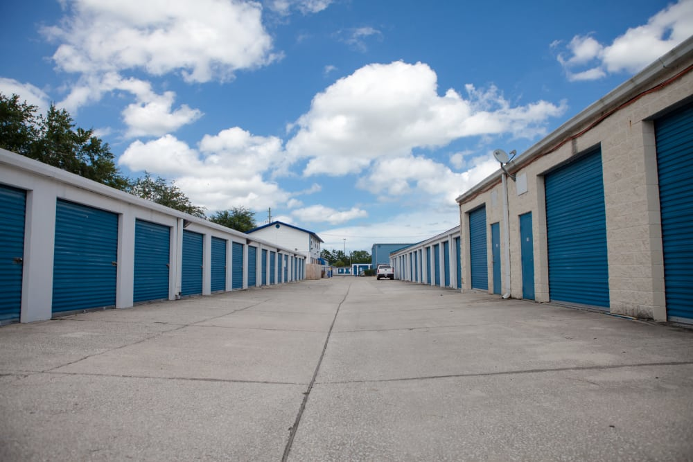 large storage units at Atlantic Self Storage