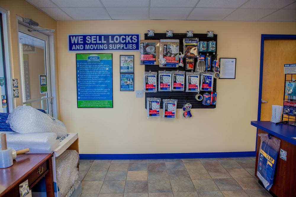 We offer locks and moving supplies at Atlantic Self Storage, in St Augustine