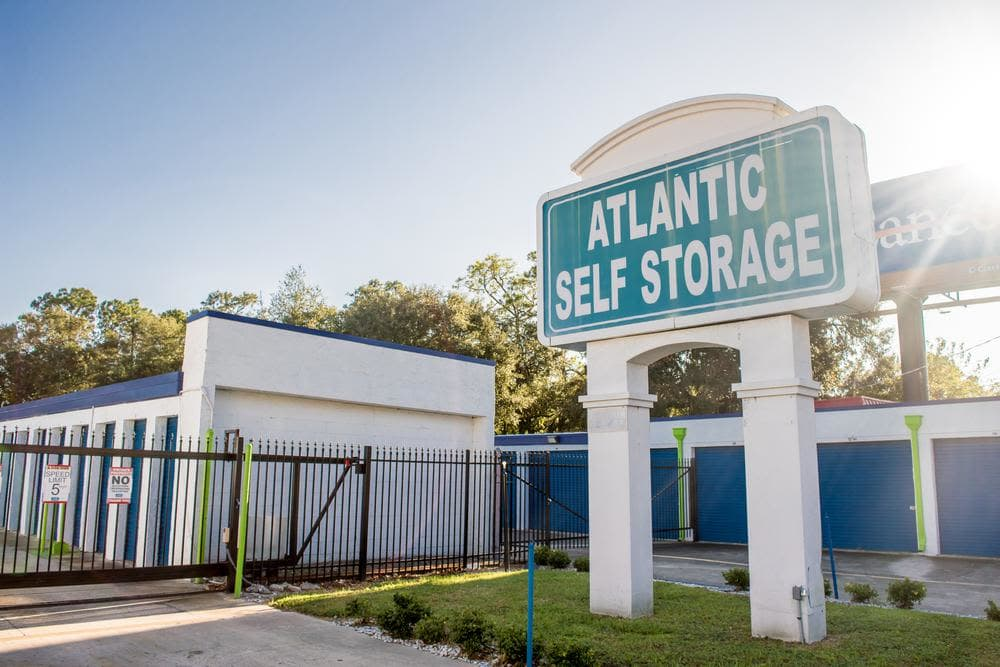 Front entrance and units at Atlantic Self Storage