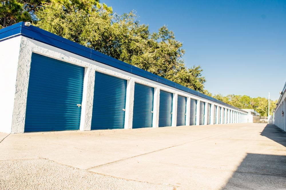 Amplious space outside units at Atlantic Self Storage