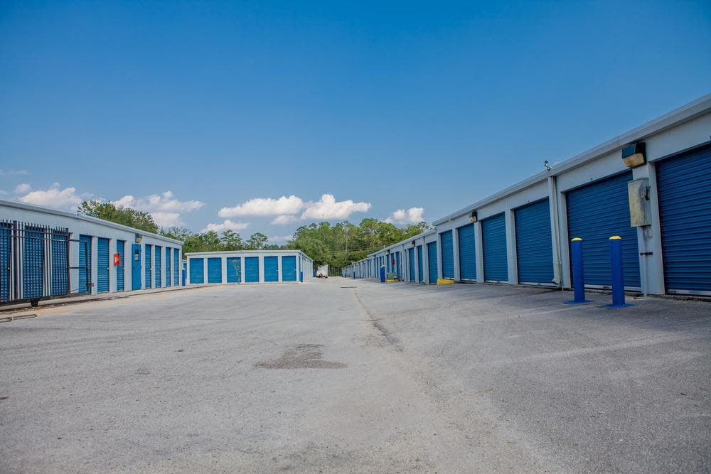 Exterior units at Atlantic Self Storage, in Jacksonville