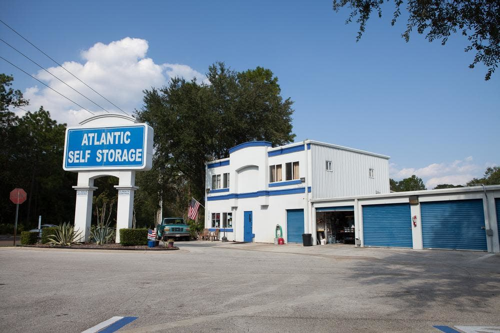Front entrance at Atlantic Self Storage