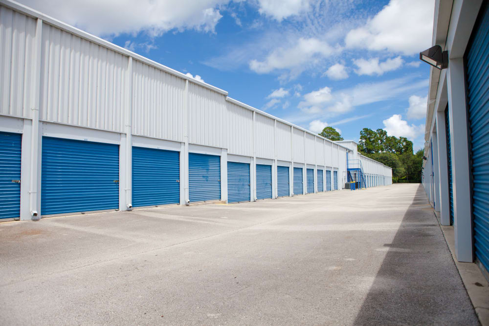 Outdoor ground-level units at Atlantic Self Storage