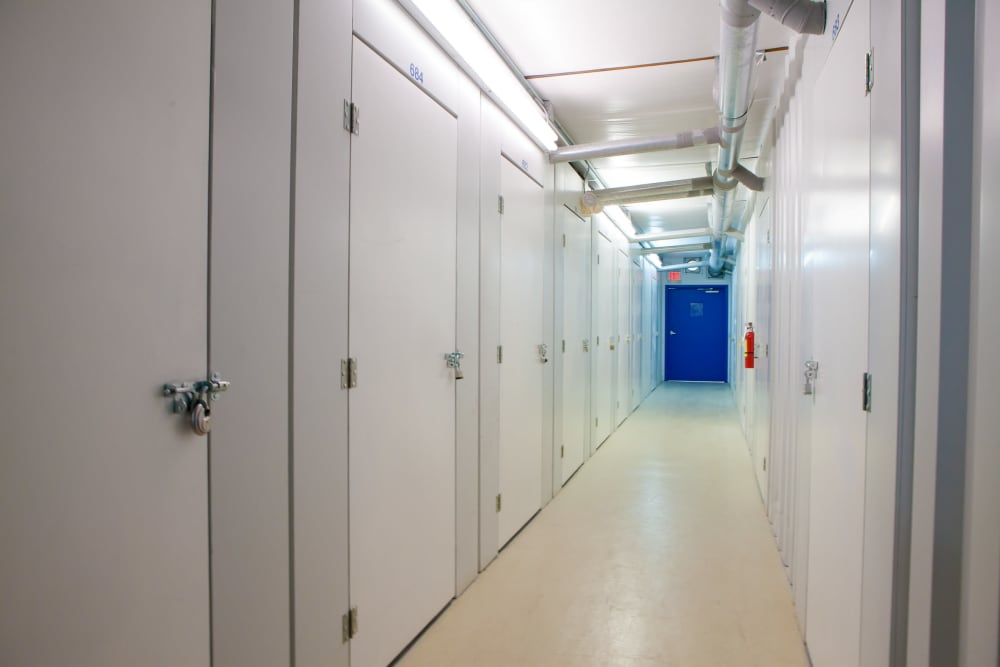 Indoor storage at Atlantic Self Storage