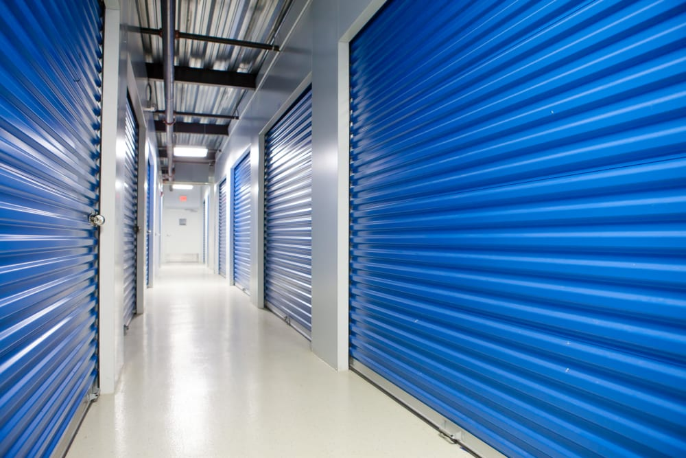 Large indoor storage units at Atlantic Self Storage