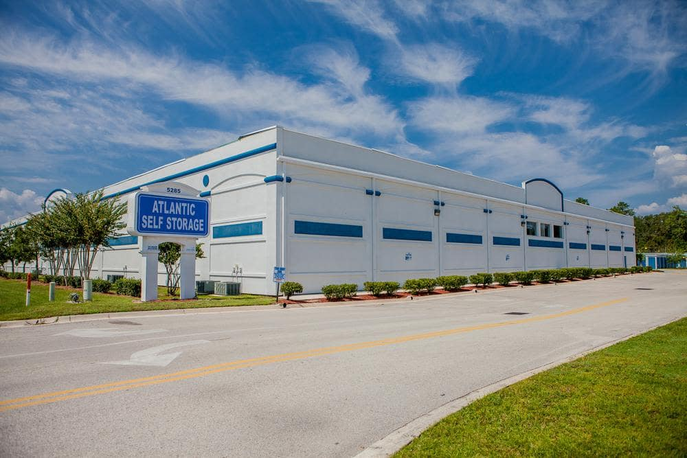 Outside building at Atlantic Self Storage, in Jacksonville