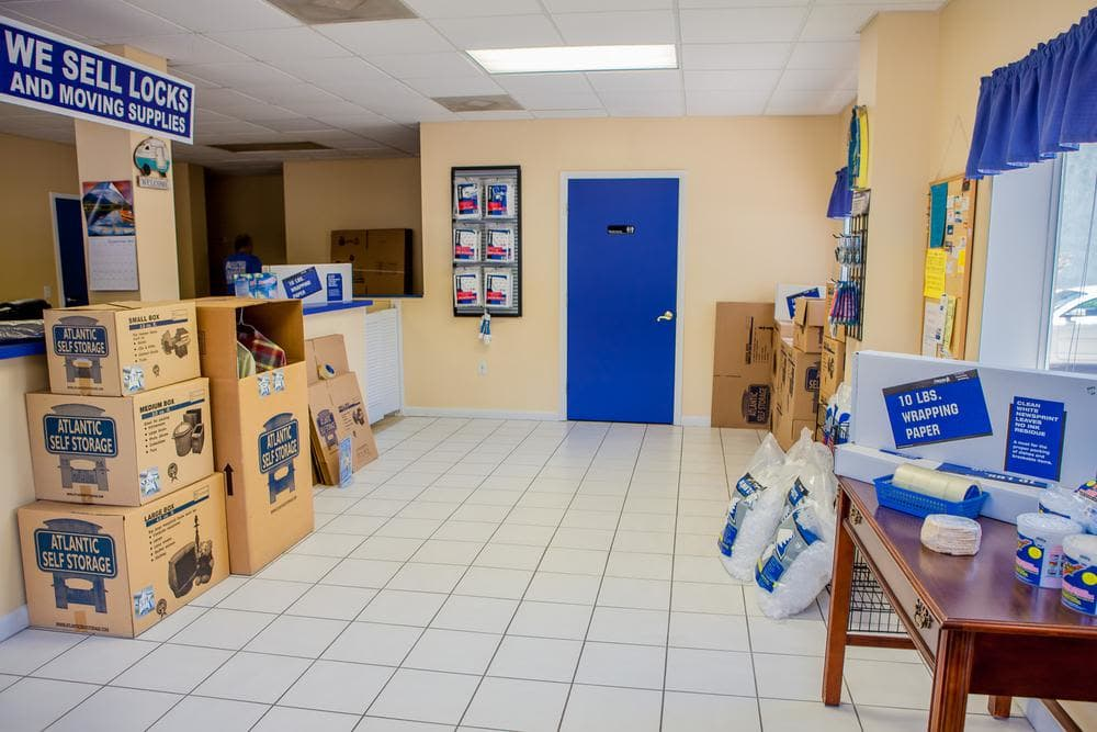 We offer locks and moving supplies at Atlantic Self Storage