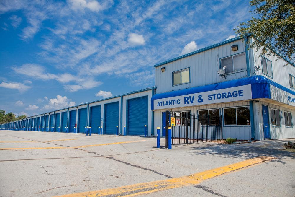Exterior storage units at Atlantic Self Storage, in Jacksonville