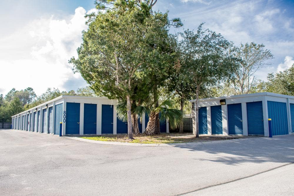 Outside units at Atlantic Self Storage, in St. Augustine