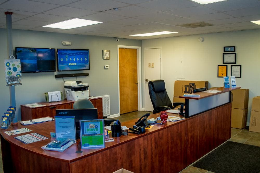 Reception office at Atlantic Self Storage