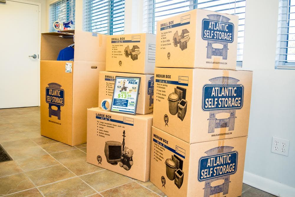 We offer boxes at Atlantic Self Storage