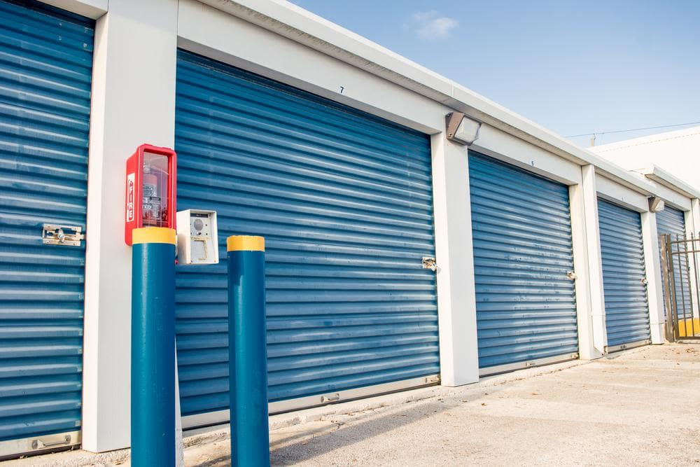 Security outside units at Atlantic Self Storage