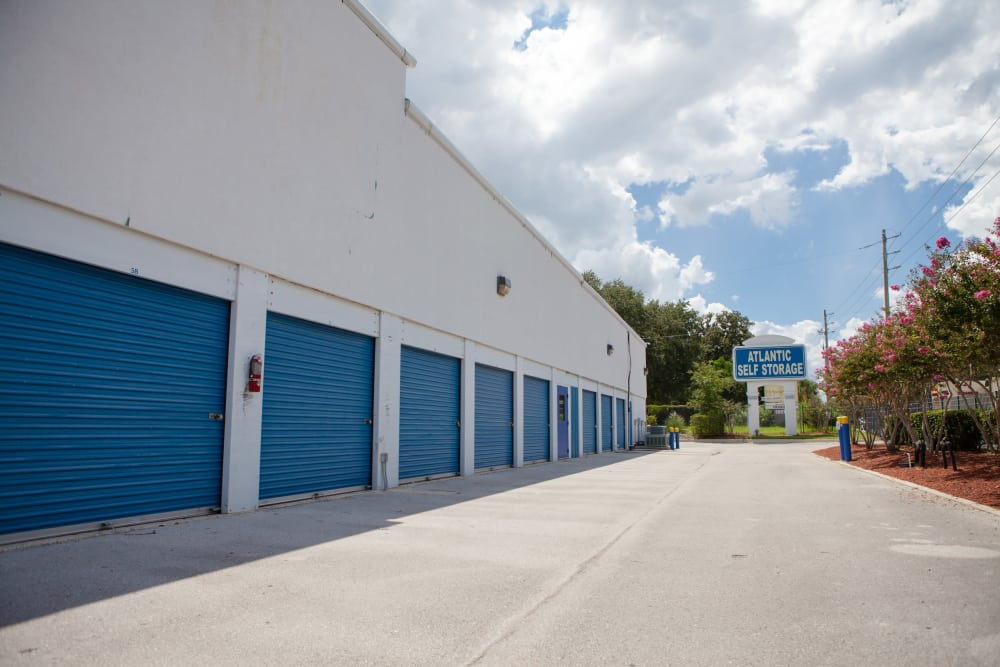 Drive-up units at Atlantic Self Storage
