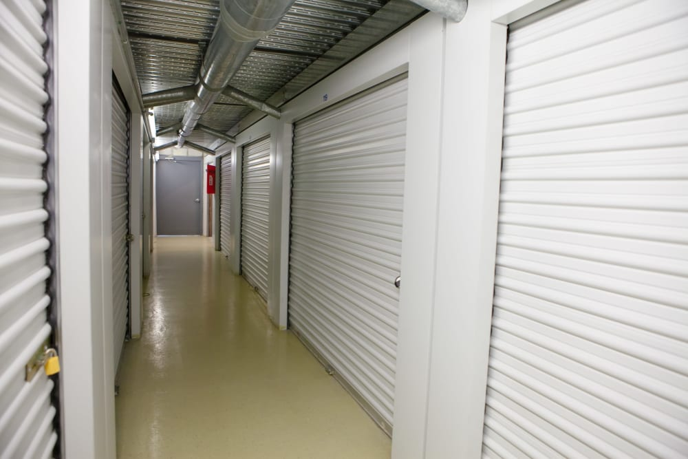 Well kept interior units at Atlantic Self Storage