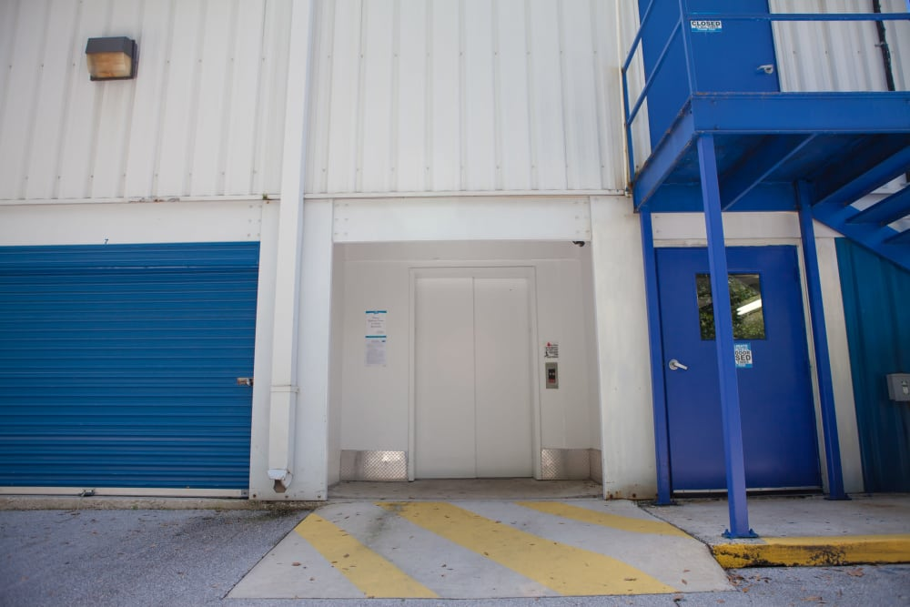 Atlantic Self Storage loading entrance