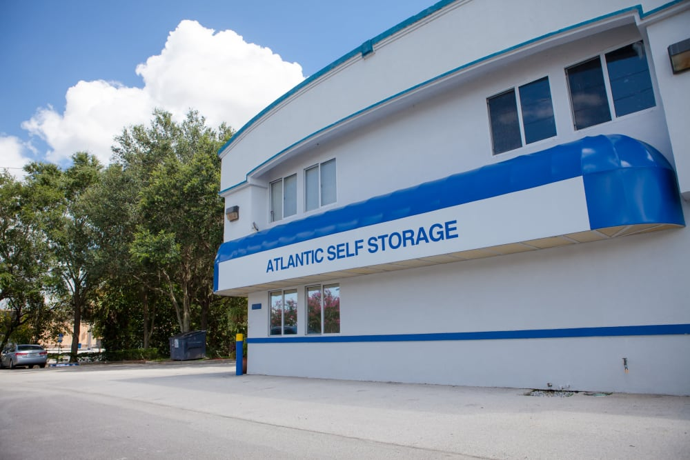 Atlantic Self Storage main entrance