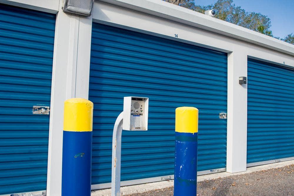 Security check at Atlantic Self Storage