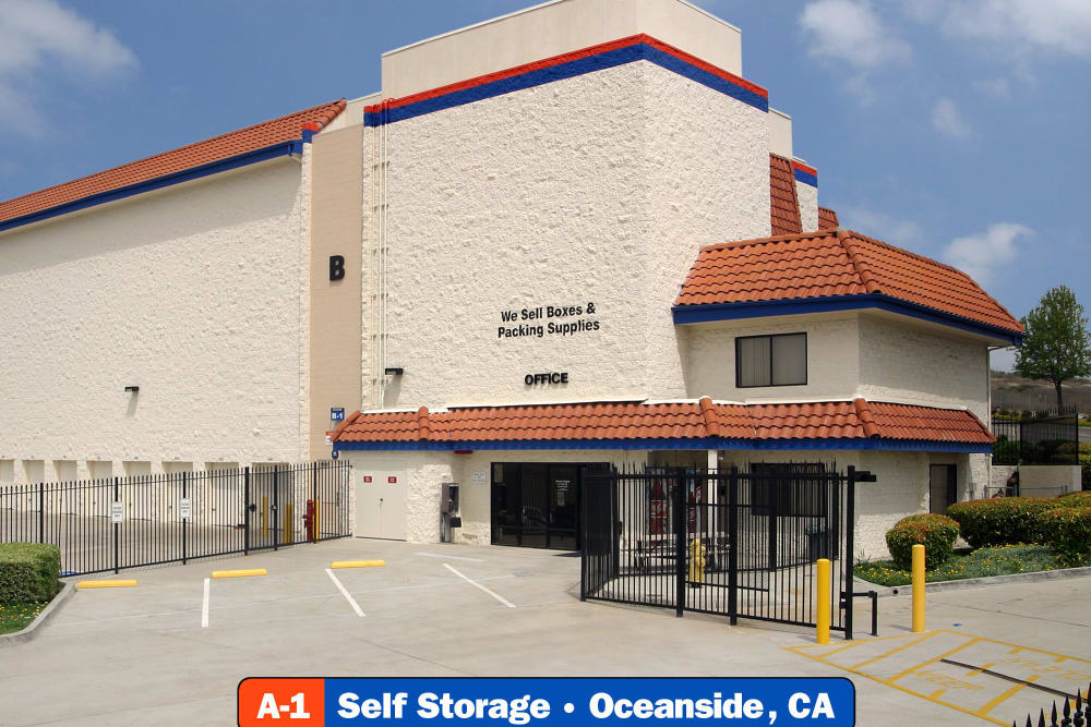 The front of our facility at A-1 Self Storage in Oceanside, California