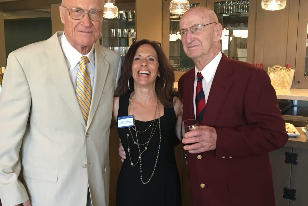 Two gentleman and Active Living Director at Merrill Gardens at Anthem