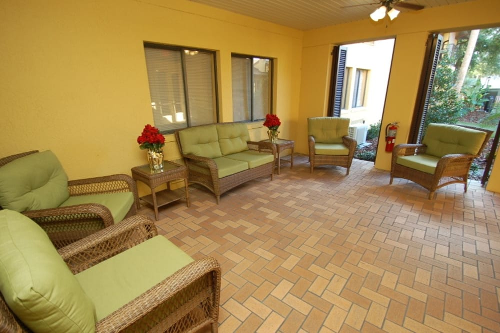 Seating area at Grand Villa of Altamonte Springs in Florida