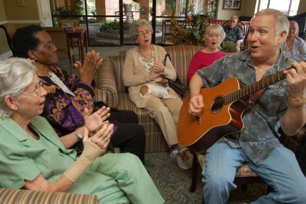 Seniors playing music at Grand Villa of Altamonte Springs in Florida