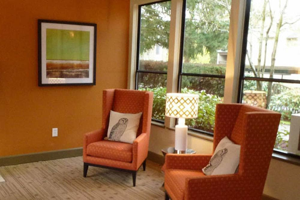 Lounge area at Willow Grove Apartment Homes in Beaverton, OR
