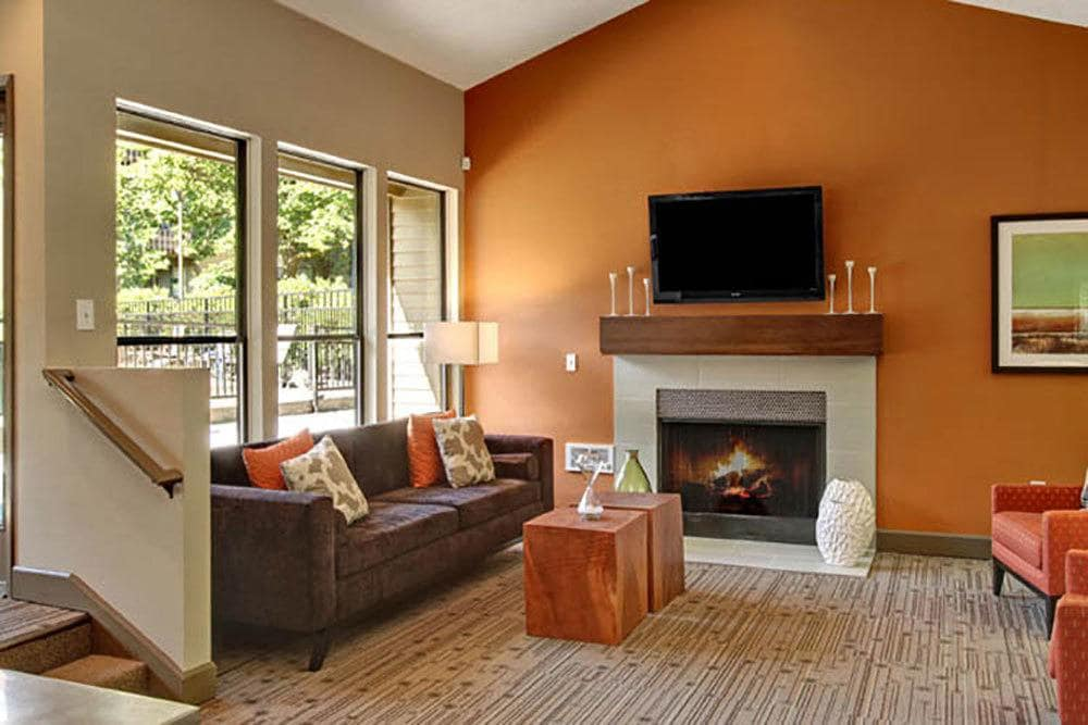 Living room at Willow Grove Apartment Homes in Beaverton, OR