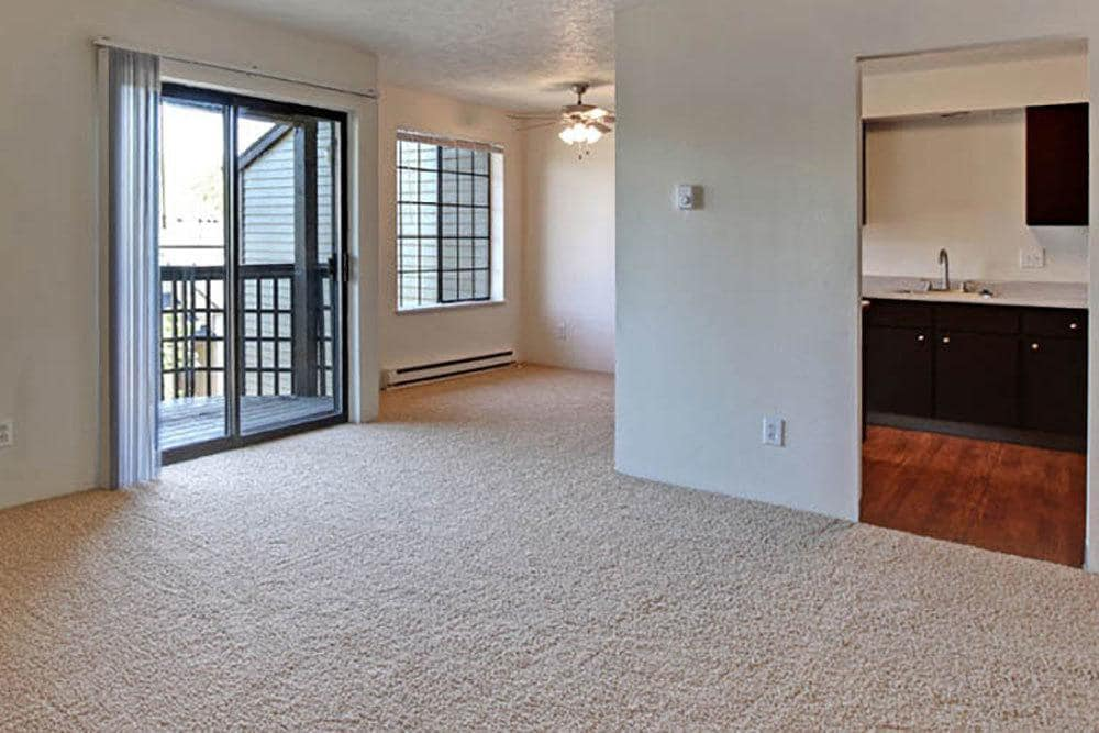 Living room in apartments at Willow Grove Apartment Homes in Beaverton, OR