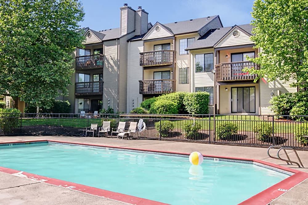 Swimming pool at Willow Grove Apartment Homes in Beaverton, OR