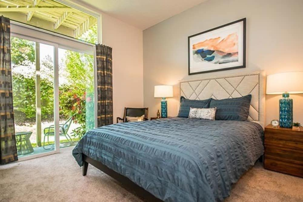 Our beautiful apartments in Beaverton, Oregon showcase a bedroom