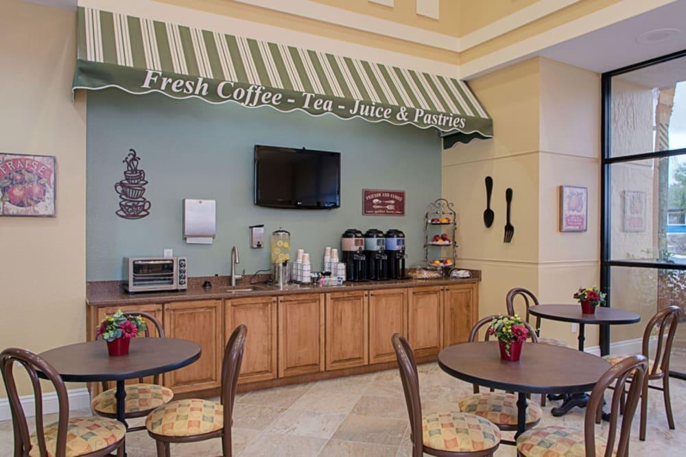 Cafe at Grand Villa of DeLand in Florida