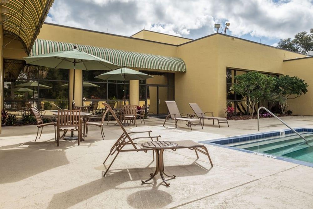 Outdoor pool at Grand Villa of DeLand in Florida