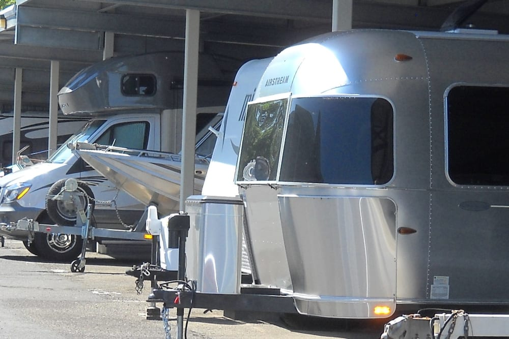 Boats and RVs at Cascade Park Self Storage in Vancouver, Washington